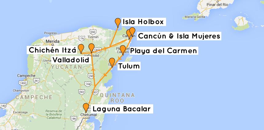 Backpacking-Mexiko-Route-Yucatan-Mexico
