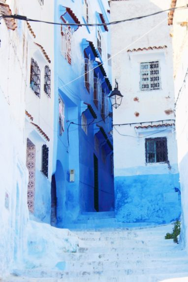backpacking-marokko-chefchaouen-alley