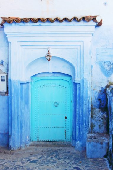 backpacking-marokko-chefchaouen-door