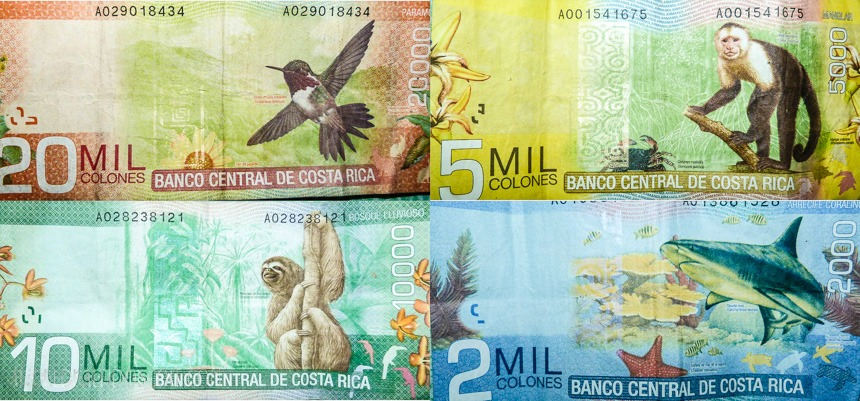 Currency Bils Costa Rica Colones