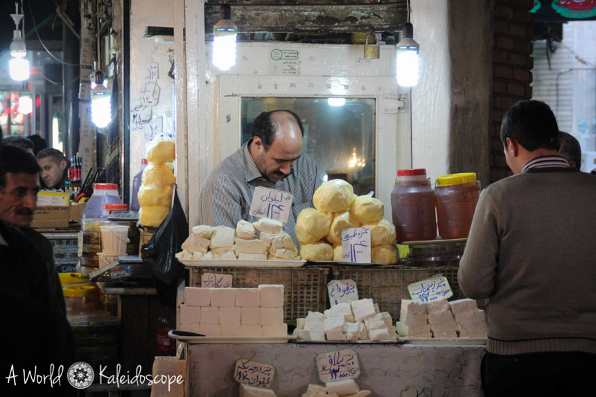 iran-backpacking-tabriz-bazaar-cheese