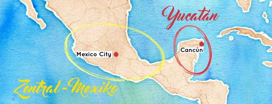 map-mexico-yucatan-zentralmexiko