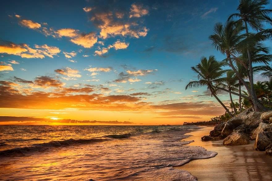 playa bávaro sunset