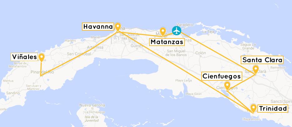 Havanna Kuba Karte.Reiseroute Kuba Sehenswürdigkeiten Tipps Für Deine Erste Kuba Reise